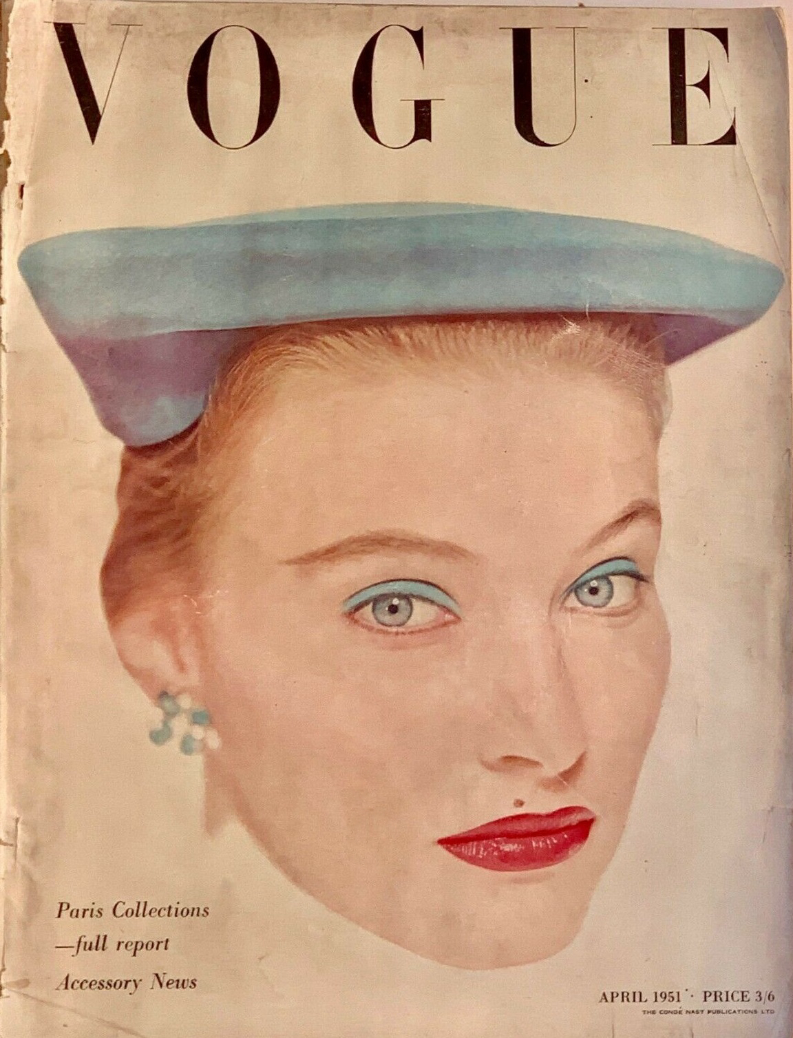 British Vogue Cover April 1951
