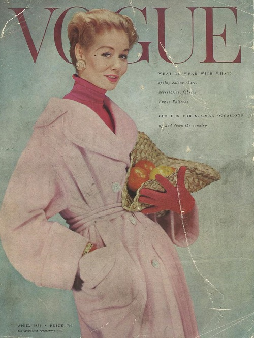 British Vogue Cover April 1954