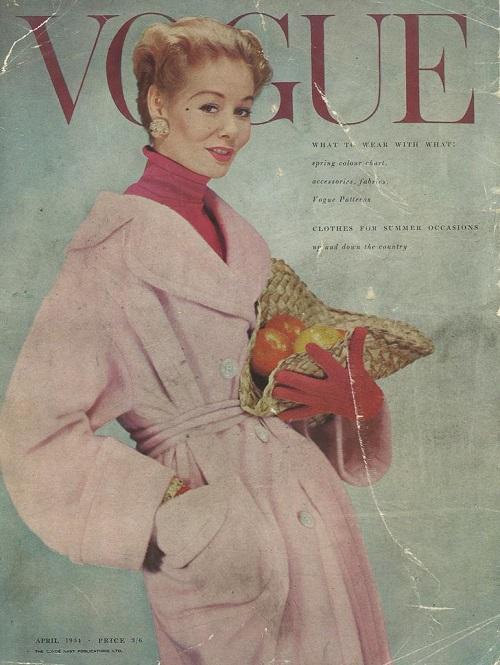 British Vogue Cover April 1954