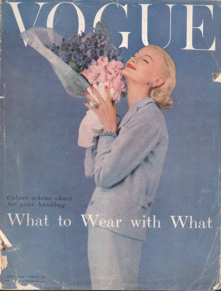 British Vogue Cover April 1955