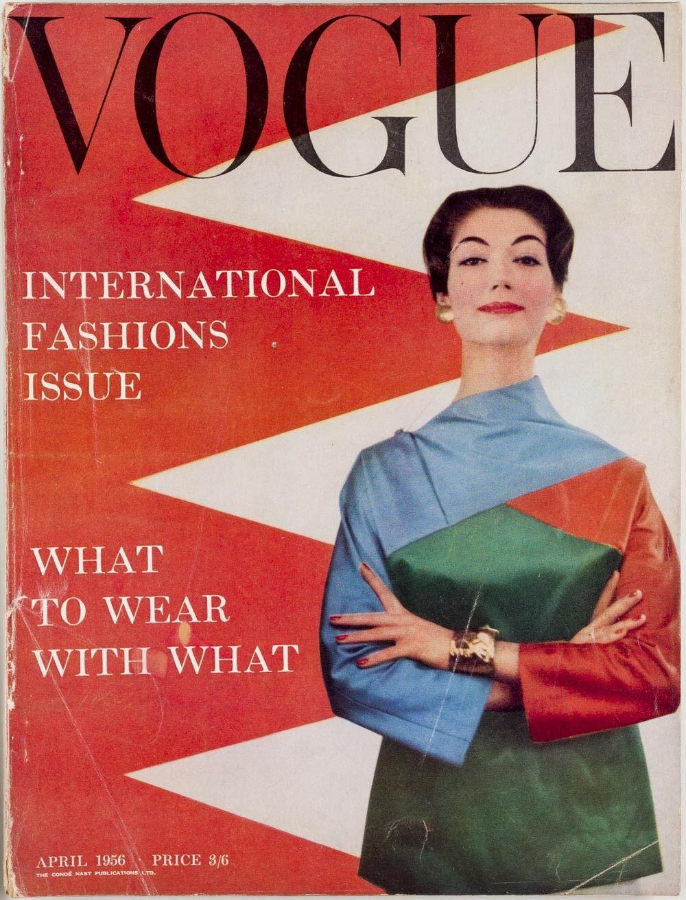 British Vogue Cover April 1956