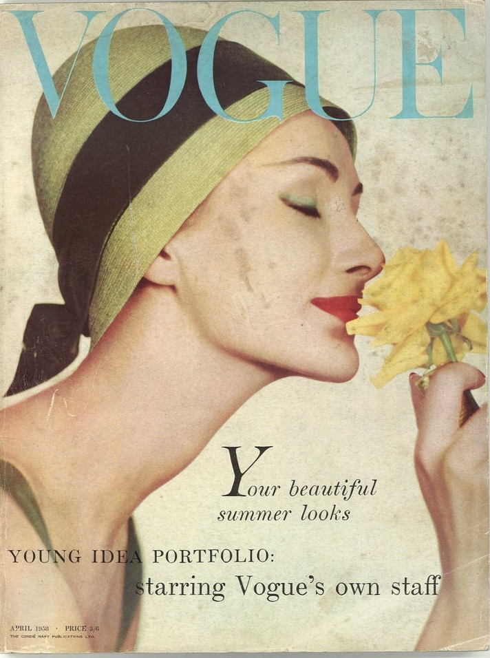 British Vogue Cover April 1958