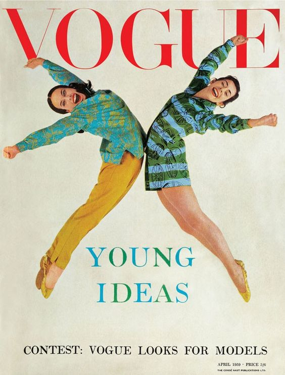 British Vogue Cover April 1959