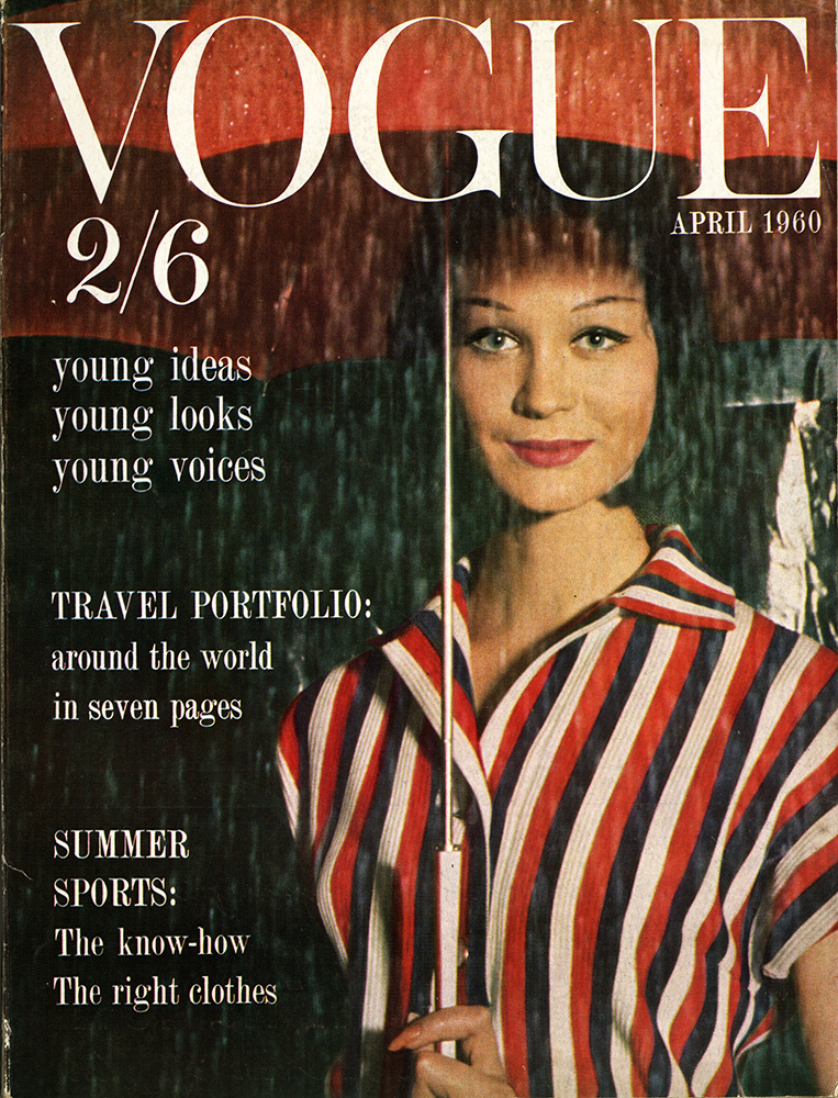 British Vogue Cover April 1960