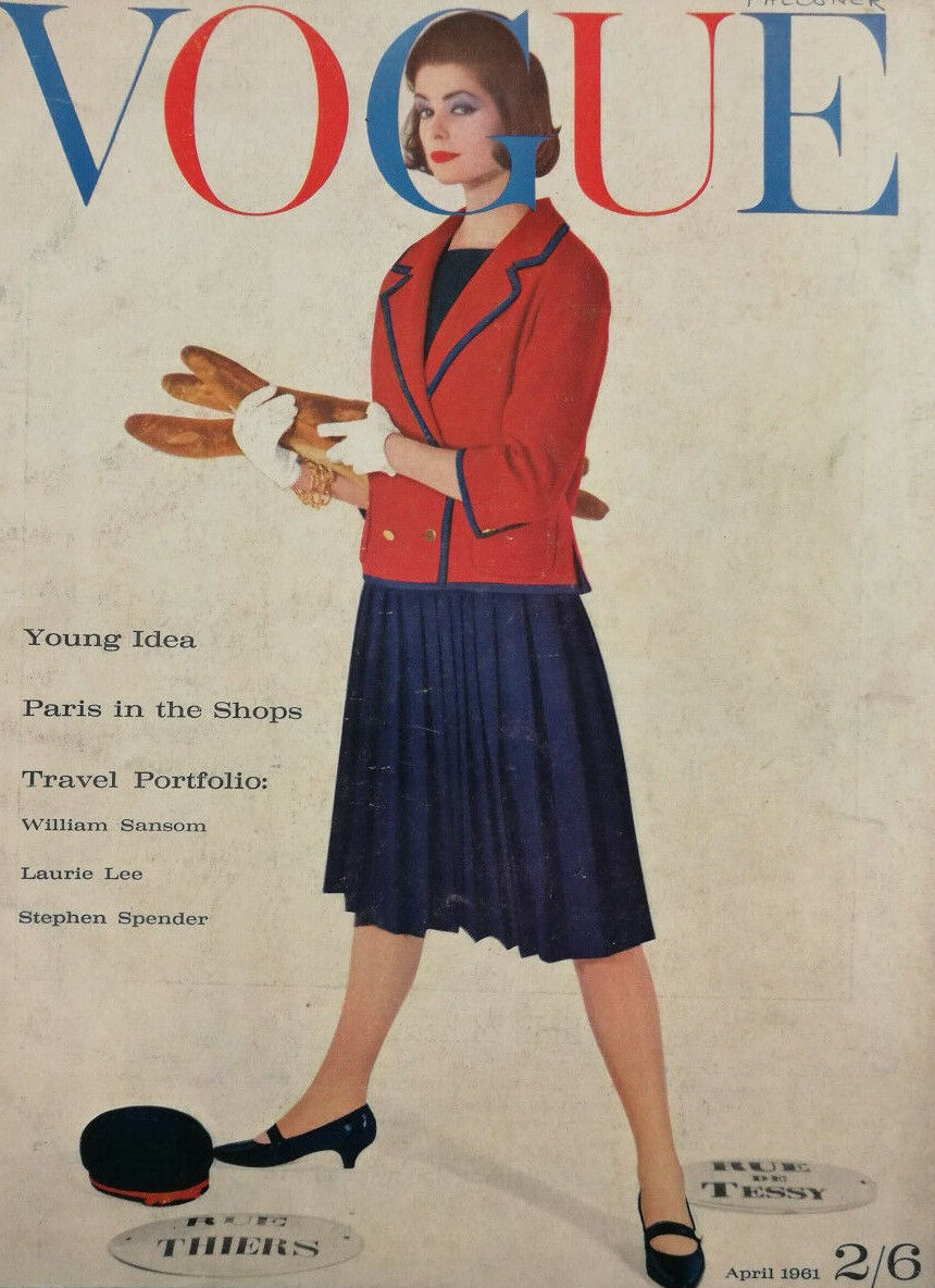 British Vogue Cover April 1961