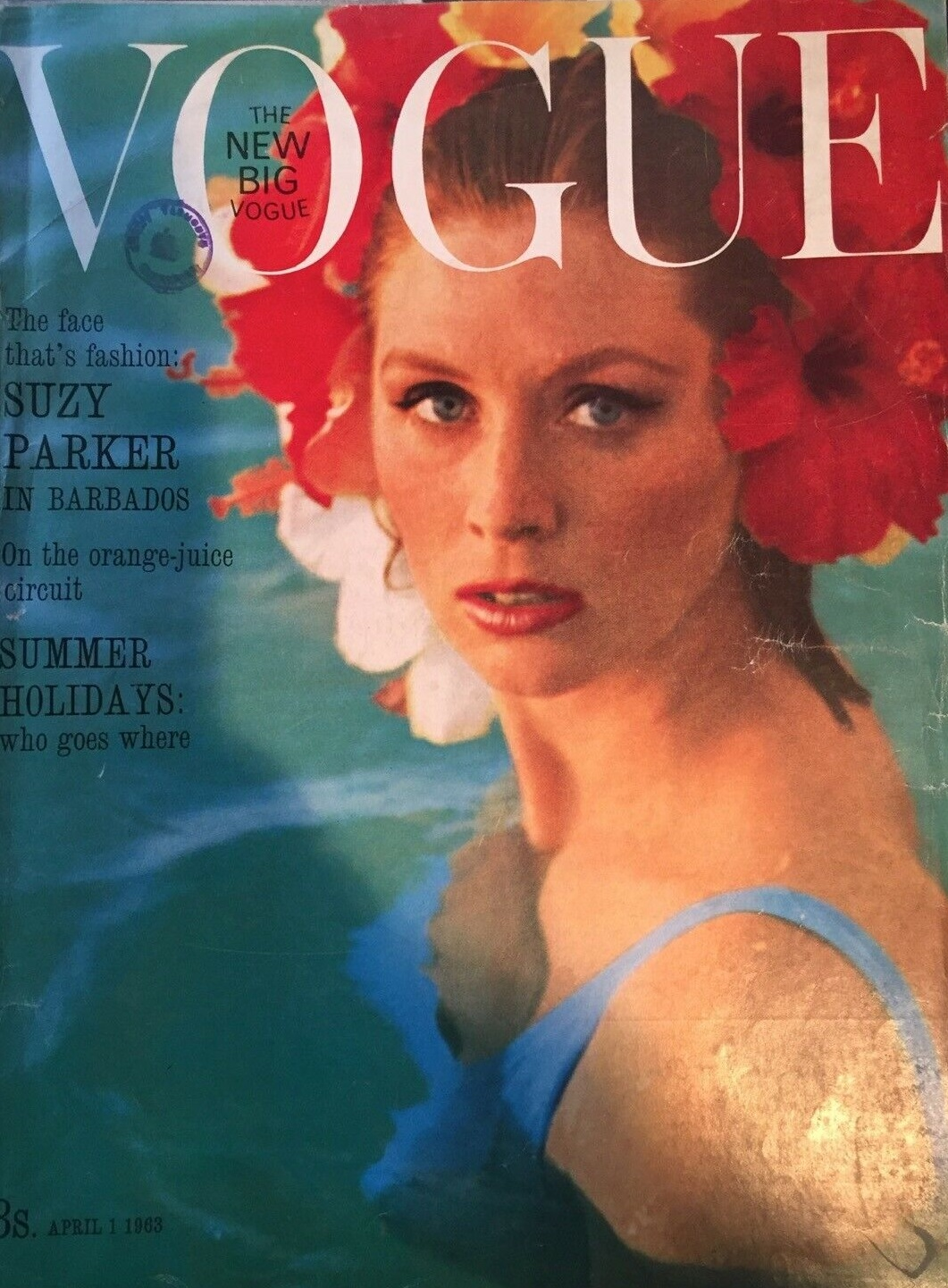 British Vogue Cover April 1963
