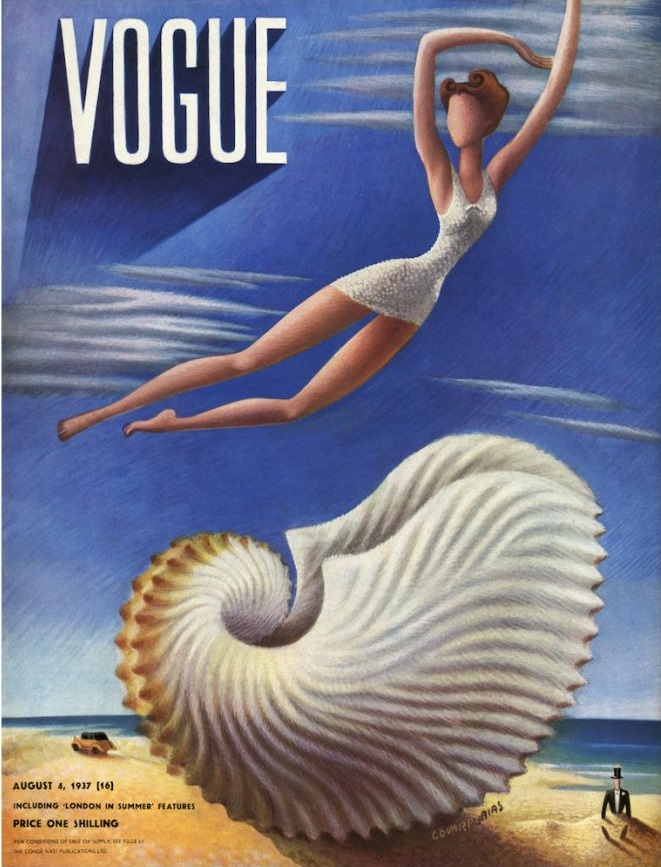 British Vogue Cover August 1937