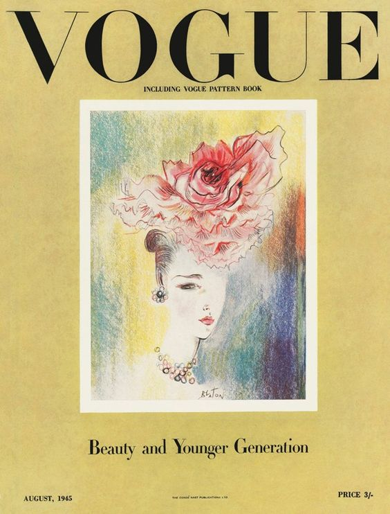 British Vogue Cover August 1945