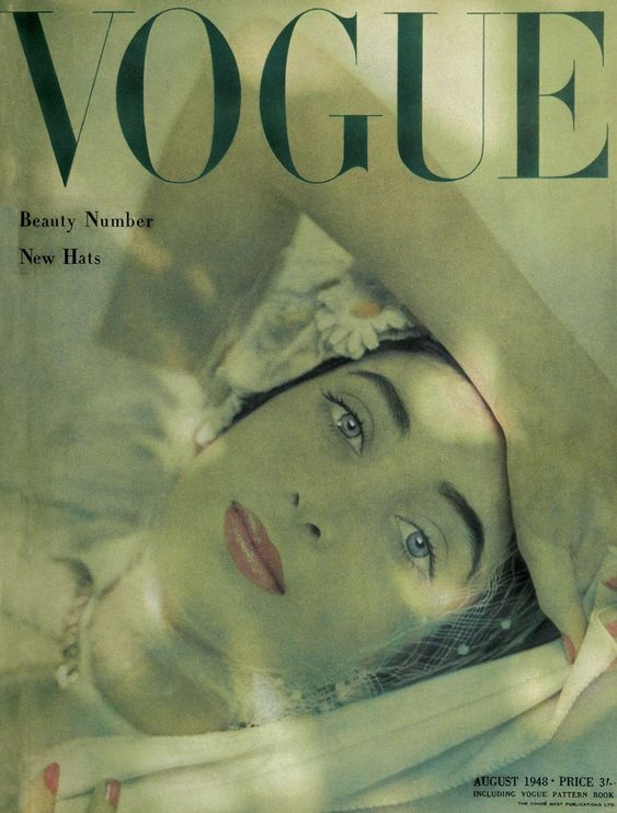 British Vogue Cover August 1948