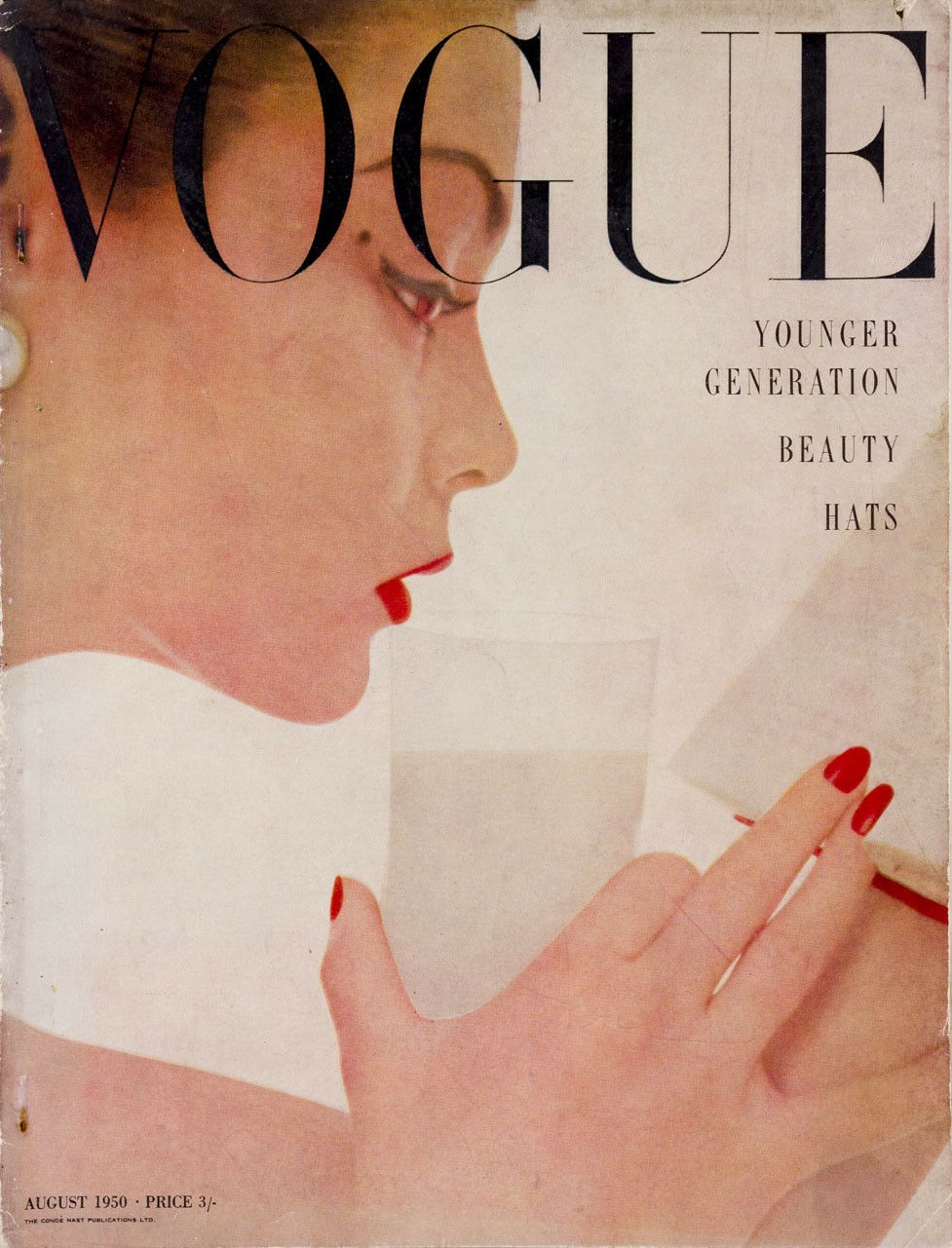 British Vogue Cover August 1950