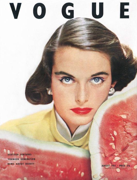 British Vogue Cover August 1951