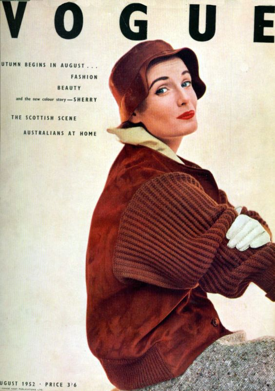 British Vogue Cover August 1952