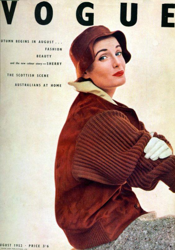 British Vogue Cover August 1952