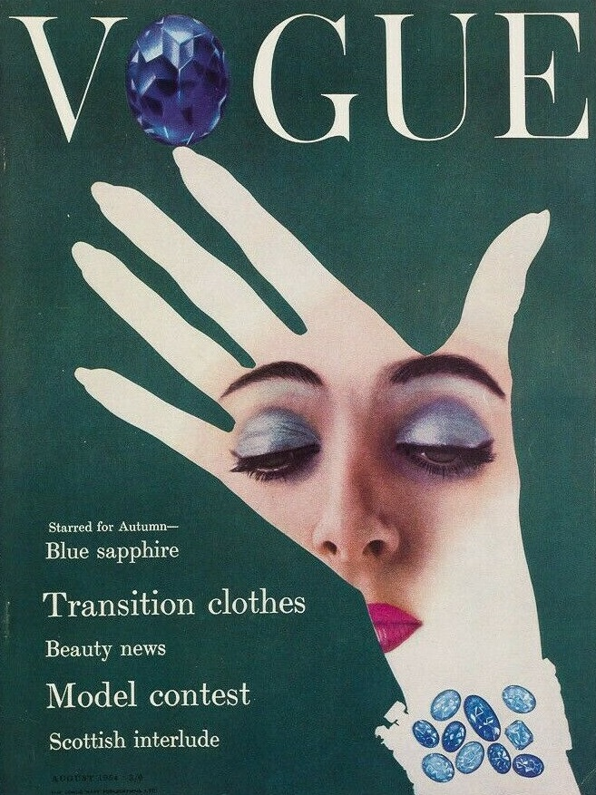 British Vogue Cover August 1954