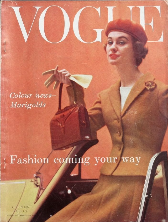 British Vogue Cover August 1955