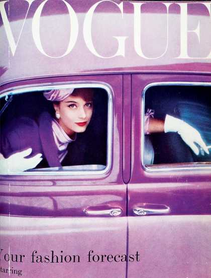 British Vogue Cover August 1957