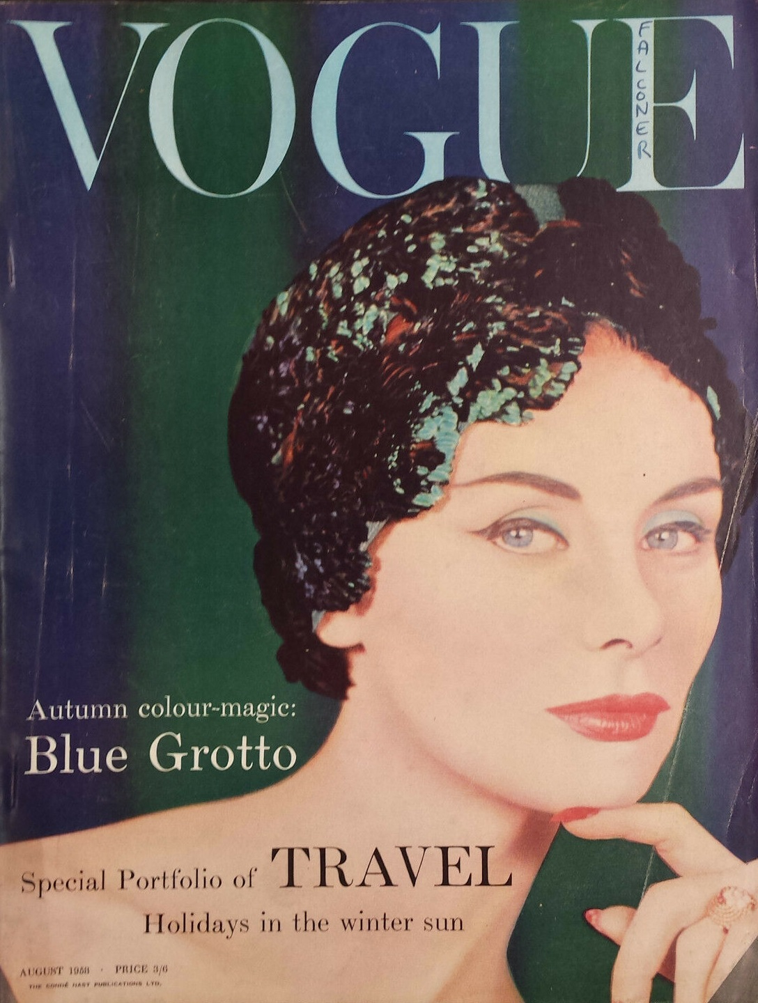 British Vogue Cover August 1958