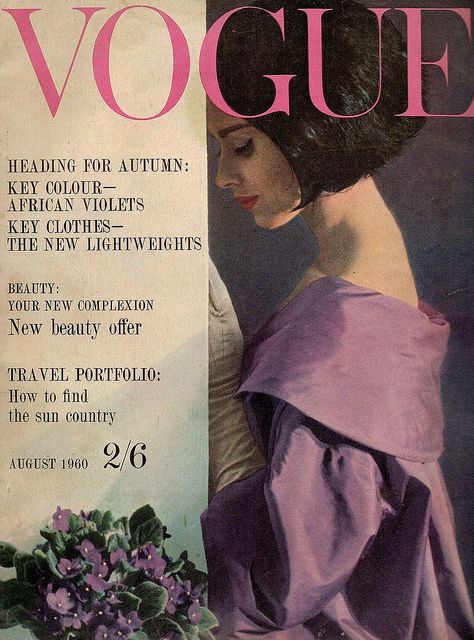 British Vogue Cover August 1960
