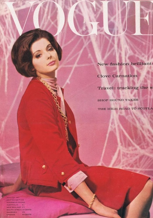 British Vogue Cover August 1961