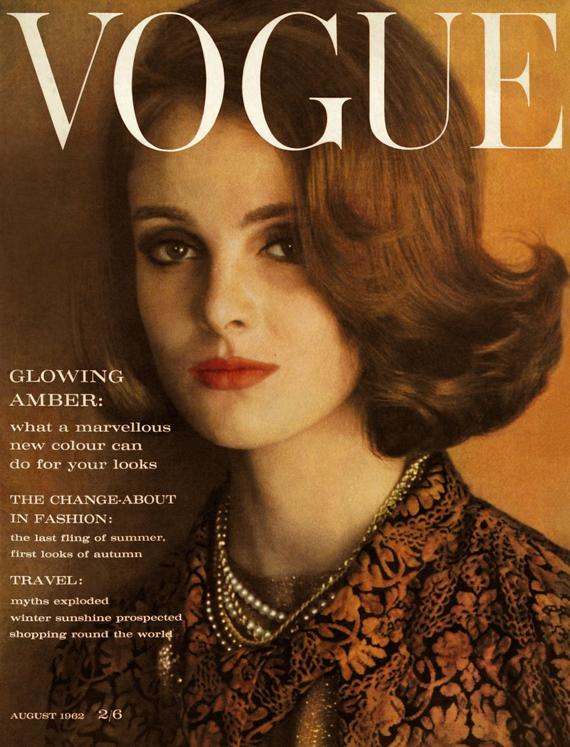 British Vogue Cover August 1962