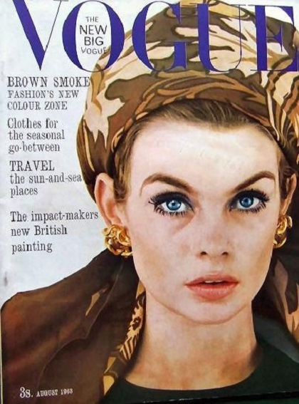 British Vogue Cover August 1963