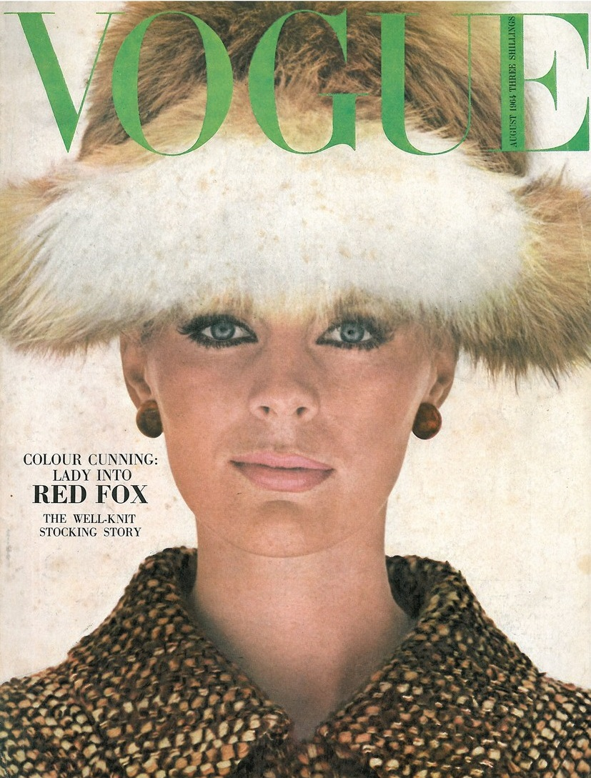 British Vogue Cover August 1964