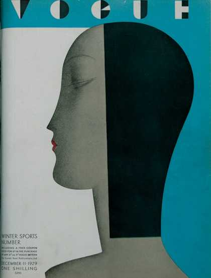 British Vogue Cover December 1929