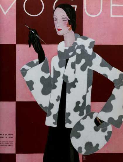 British Vogue Cover December 1930