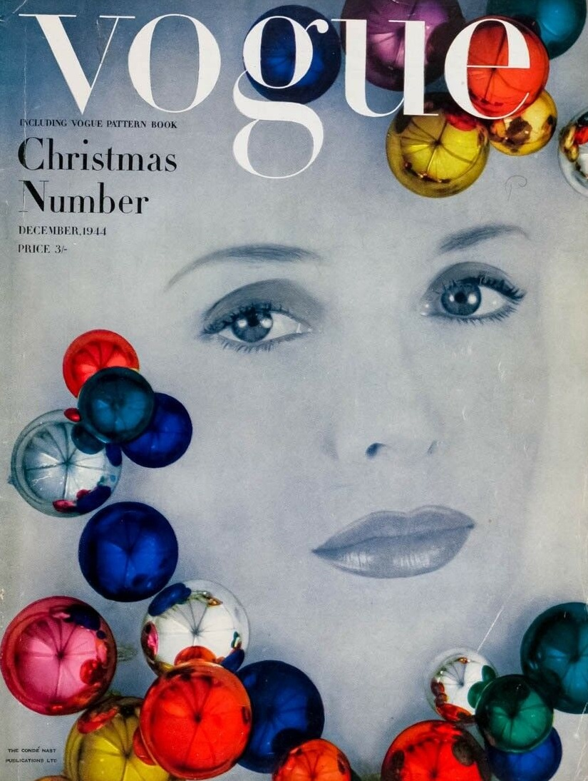 British Vogue Cover December 1944