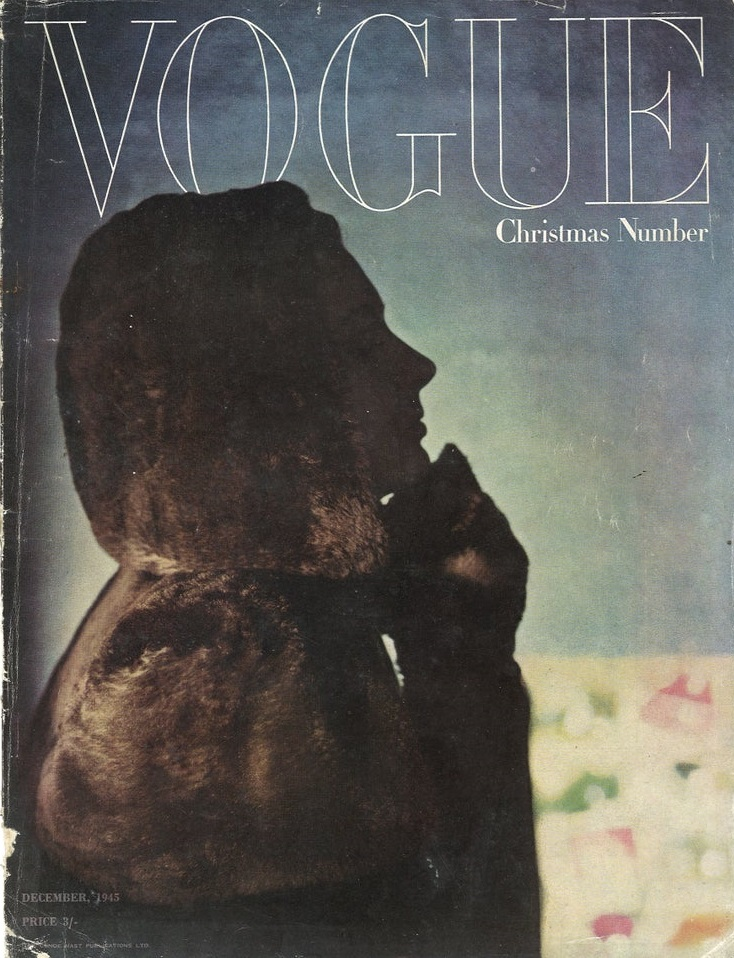 British Vogue Cover December 1945
