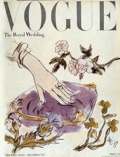 British Vogue Cover December 1947