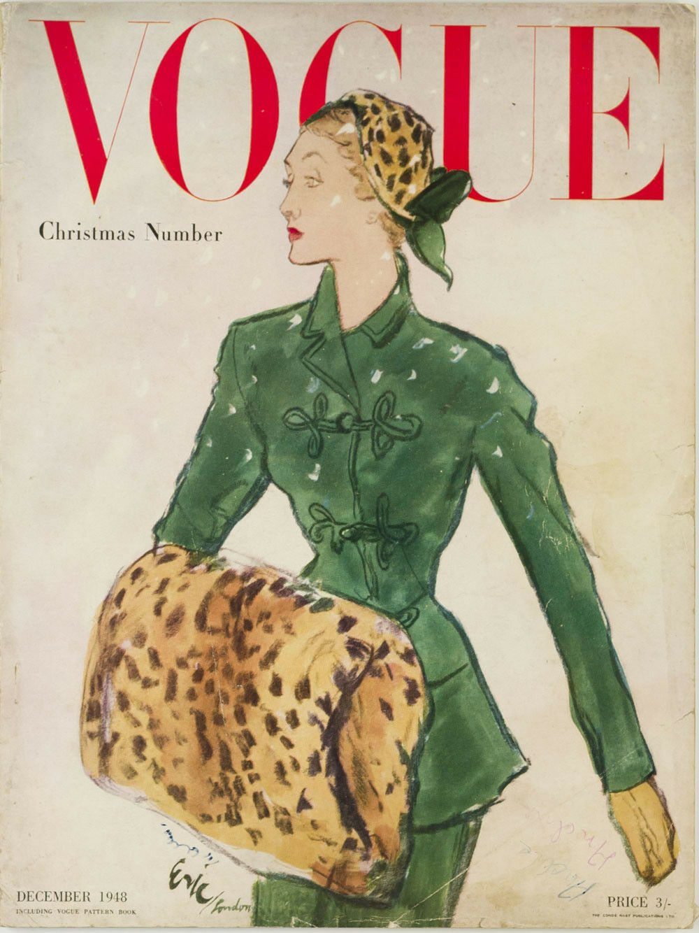 British Vogue Cover December 1948