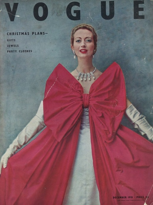 British Vogue Cover December 1951