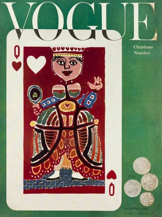 British Vogue Cover December 1953