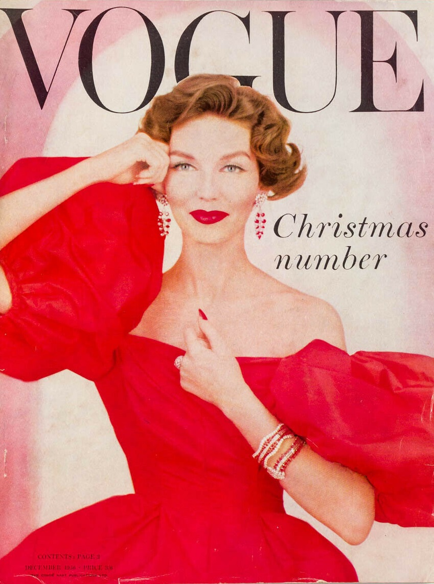 British Vogue Cover December 1956