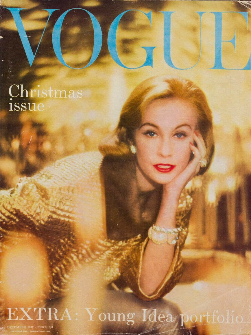 British Vogue Cover December 1957