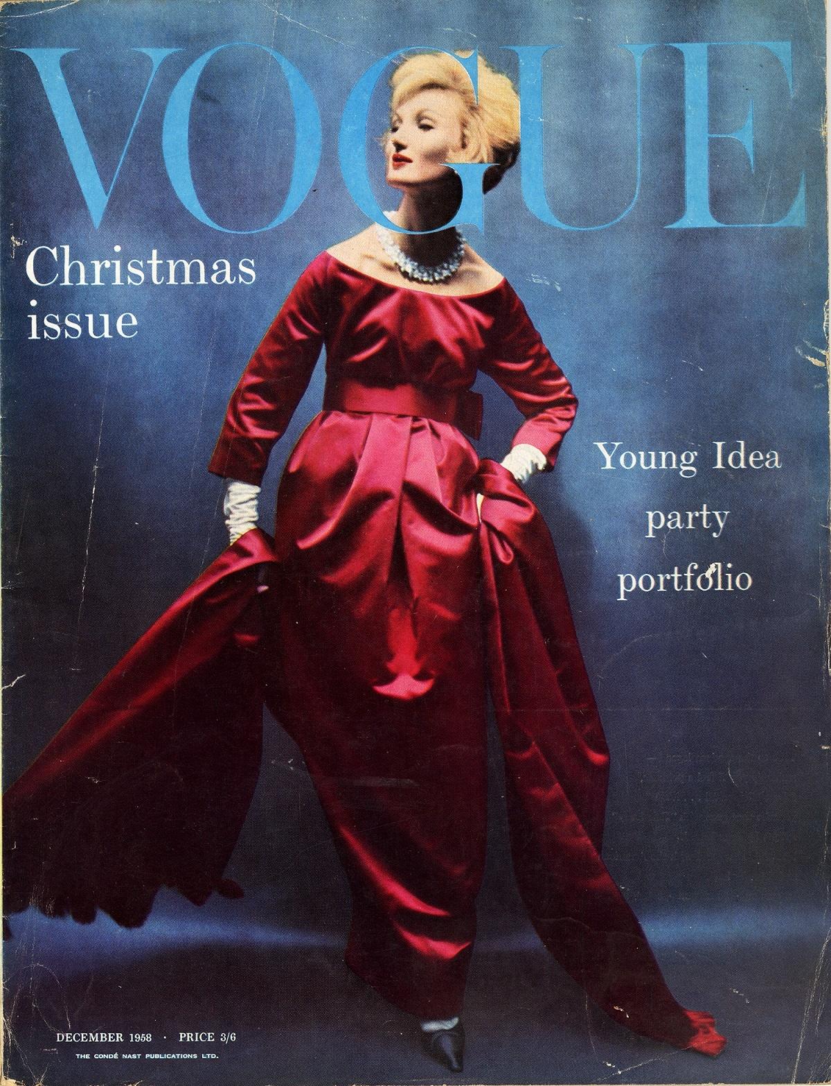 British Vogue Cover December 1958