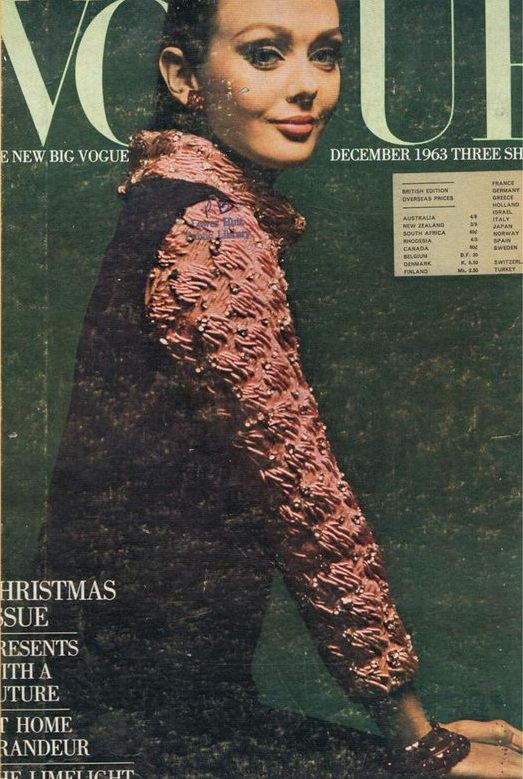 British Vogue Cover December 1963