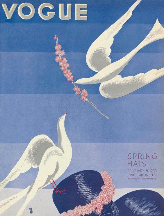 British Vogue Cover February 1933