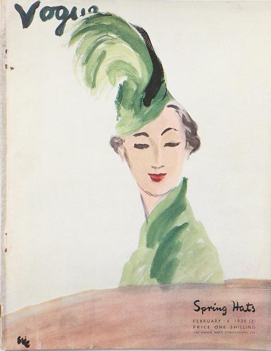 British Vogue Cover February 1935