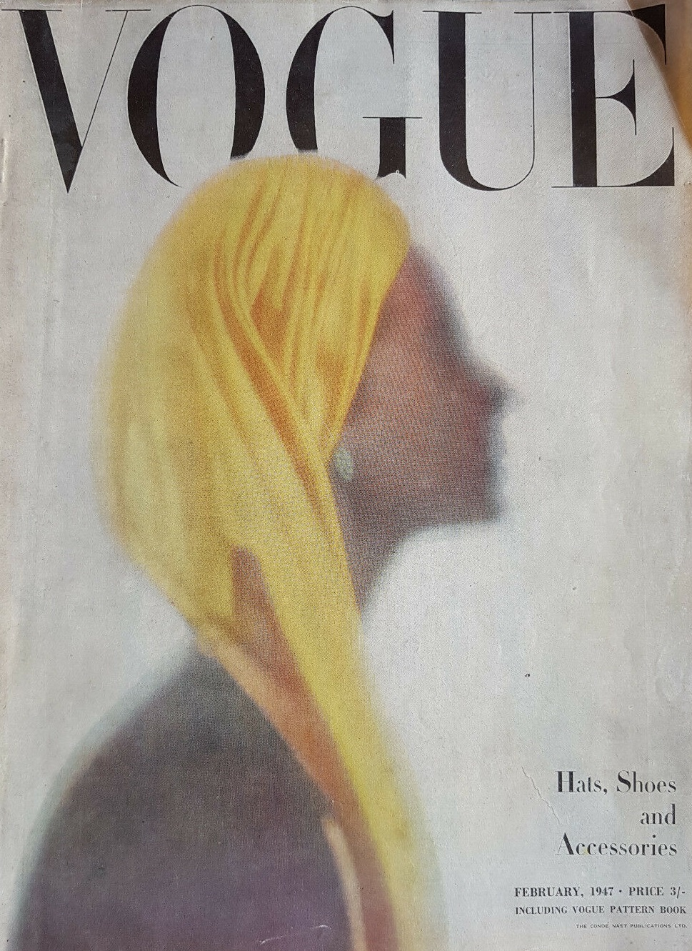 British Vogue Cover February 1947