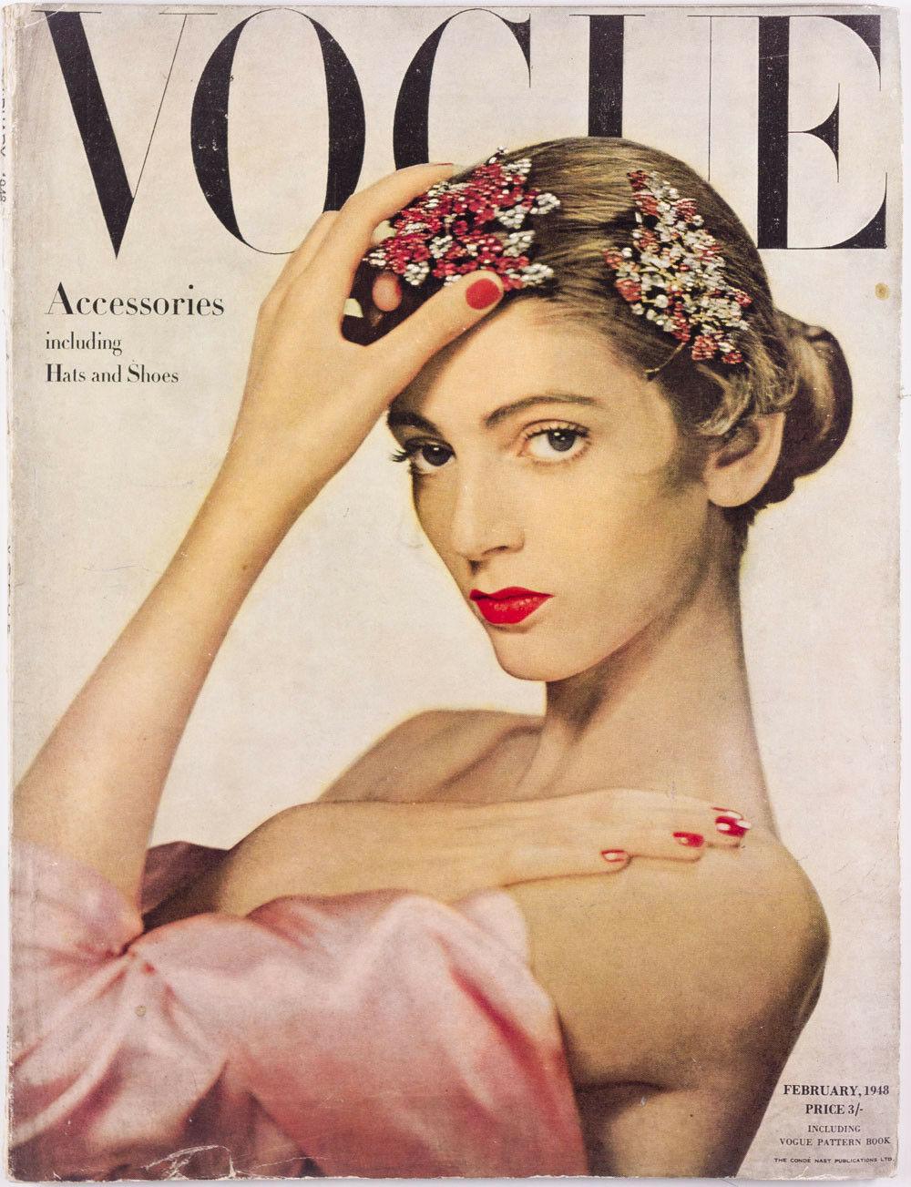 British Vogue Cover February 1948