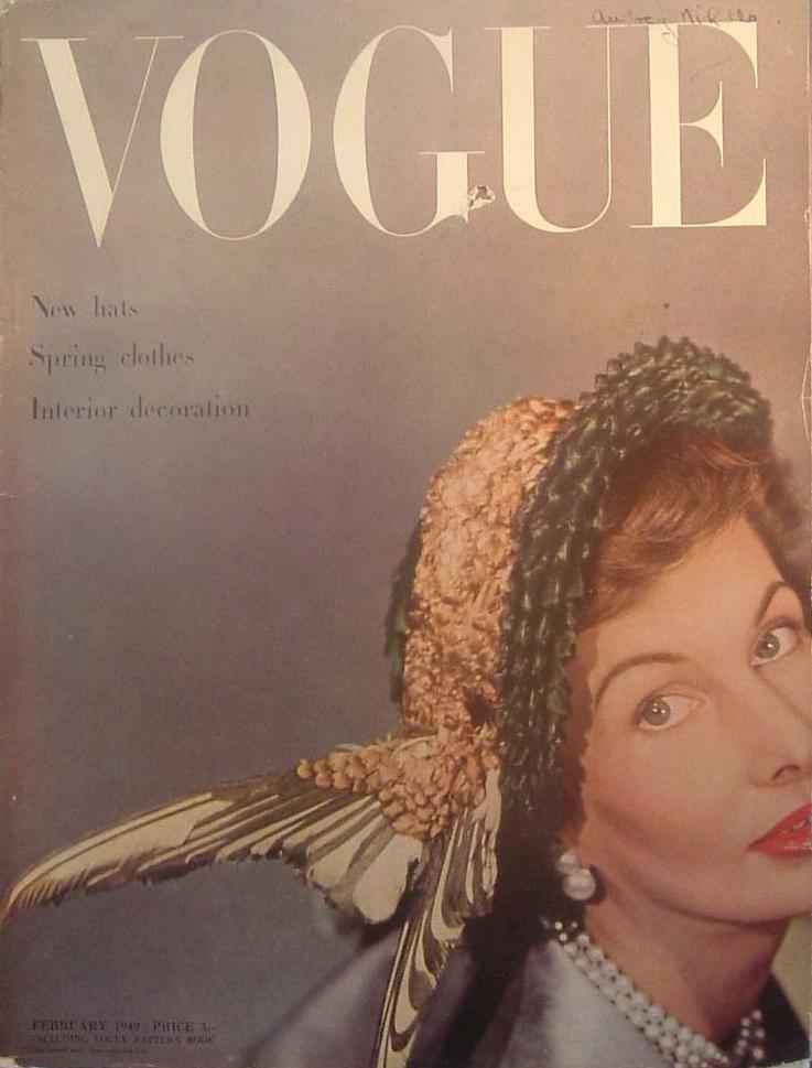 British Vogue Cover February 1949