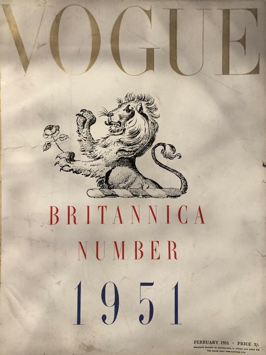 British Vogue Cover February 1951