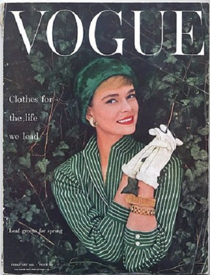 British Vogue Cover February 1955