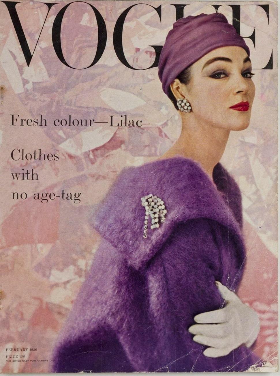 British Vogue Cover February 1956
