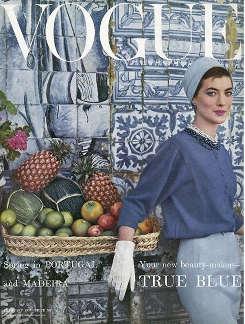 British Vogue Cover February 1957