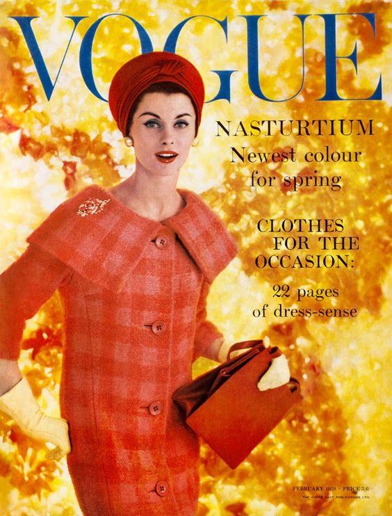 British Vogue Cover February 1959