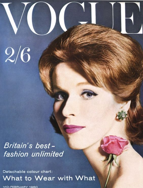 British Vogue Cover February 1960