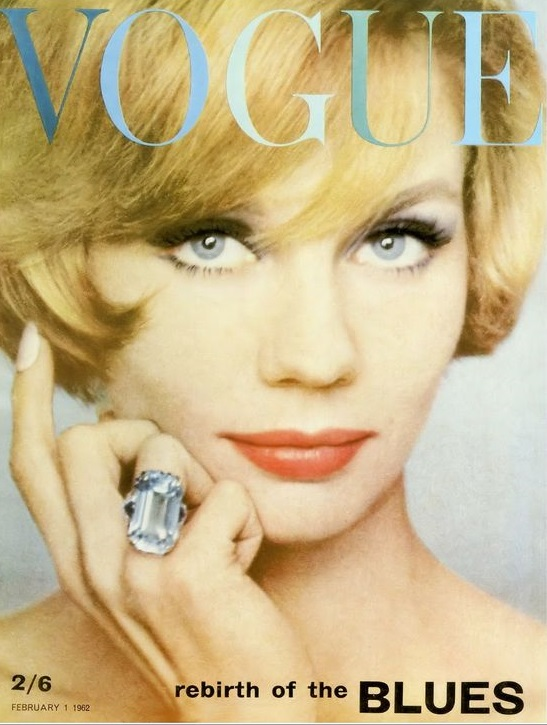 British Vogue Cover February 1962